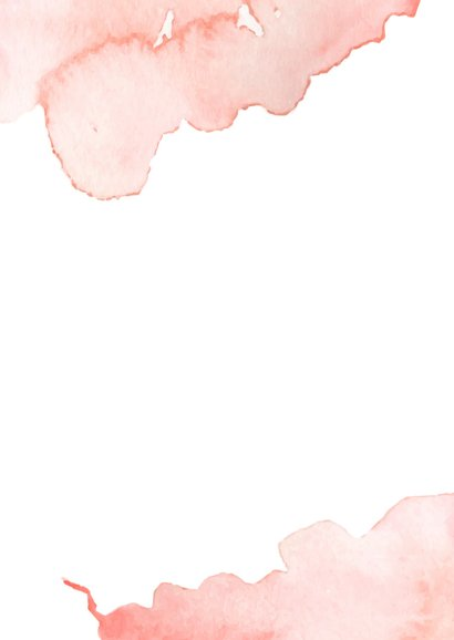 Felicitatiekaart geboorte dochter roze waterverf 2