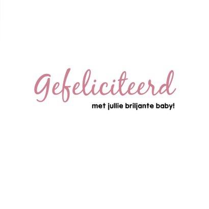 Felicitatiekaart meisje 'Briljante baby' 3