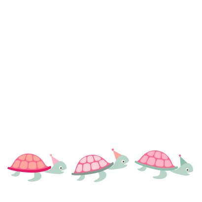 Felicitatiekaart te laat schildpad - HB 2
