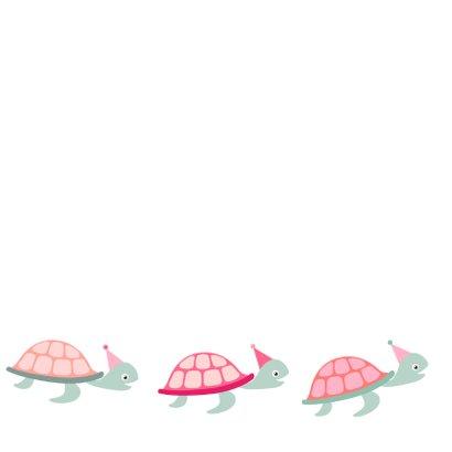 Felicitatiekaart te laat schildpad - HB 3