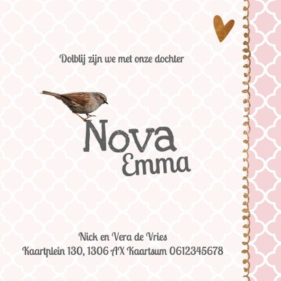Foto geboortekaartje Nova - LO 3
