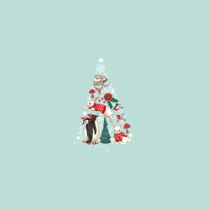 Fotocollage Kerstboom dieren 2
