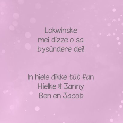 Fryske fleurige sprankelende felicitatiekaart  3