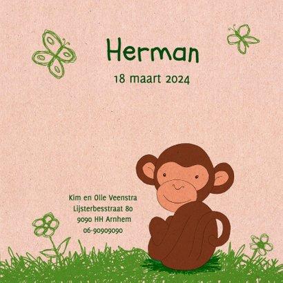 Geboorte aapje papierprint - HR 3