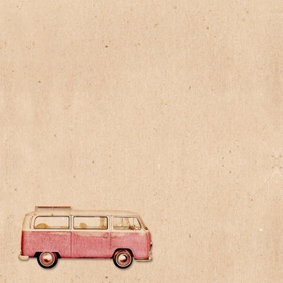 Geboorte busje roze retro - BK 2