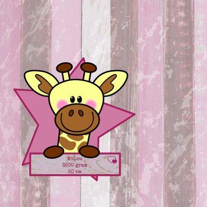 Geboorte giraffe hout meisje HB 2