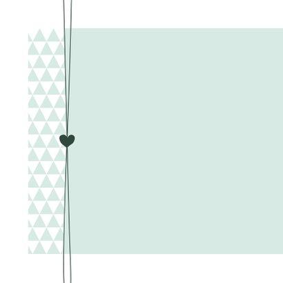 Geboorte - Groen, driehoek, hart 2