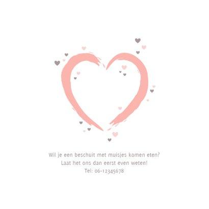 Geboorte - groot roze hart 2
