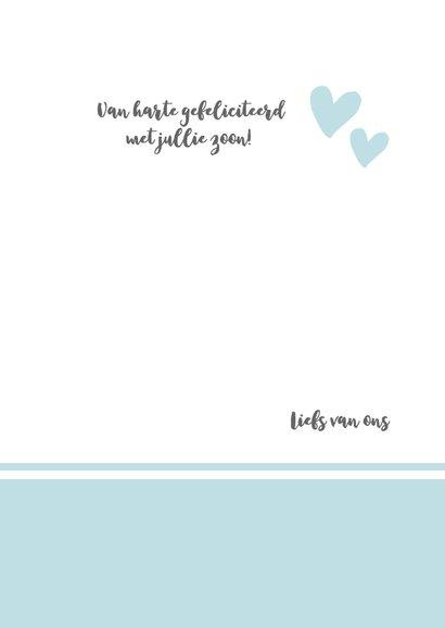 Geboorte - hello little one blauw  3