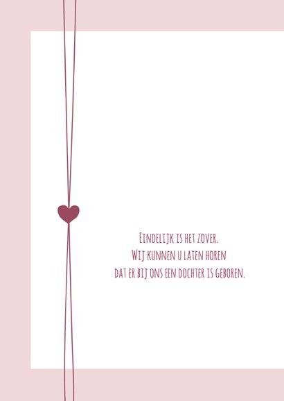 Geboorte - Hip roze met hartjes  2