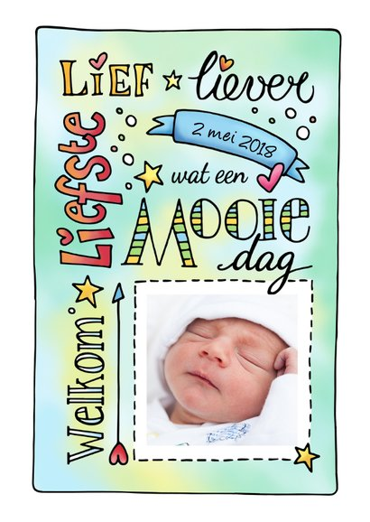 Geboorte jongen handlettering 3
