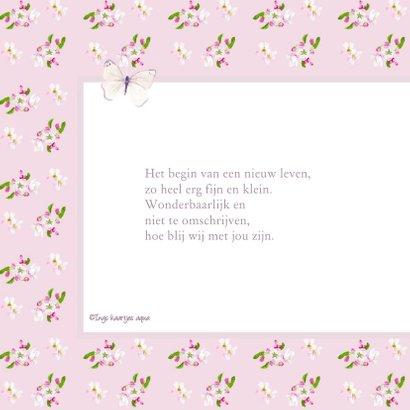 Geboorte kaart Vlinders 2