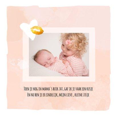 Geboorte kusje voor een zusje 2