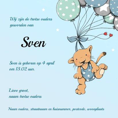 Geboorte leeuwtje ballonnen - IH 3
