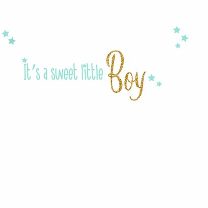 Geboorte lief baby kaartje boy 3