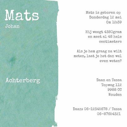 Geboorte Mats Blauwgroen 3