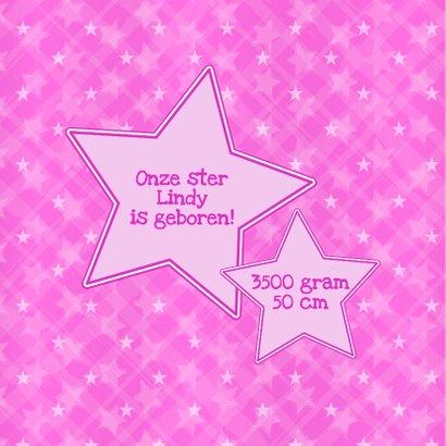 geboorte meisje giraffe roze  2
