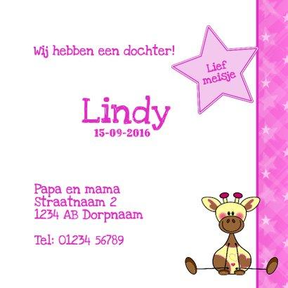geboorte meisje giraffe roze  3