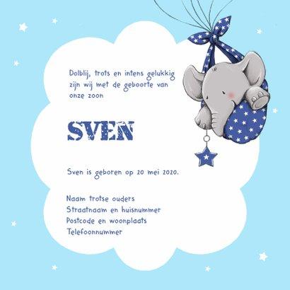 Geboorte olifant hartballon - IH 3