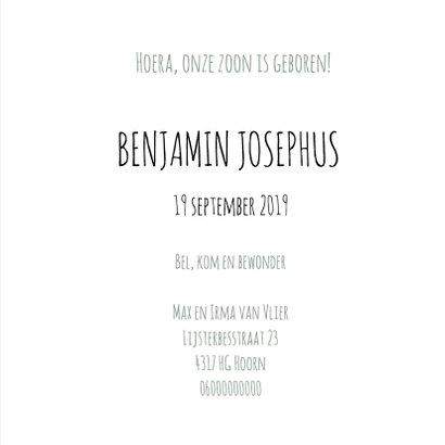 Geboorte Silhouet Benjamin - B 3