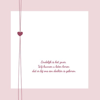 Geboorte - Trendy-hartje-roze 2