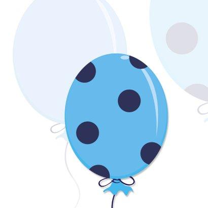 Geboorte vieren,  blauwe ballon 2