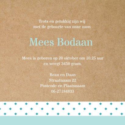 Geboortekaart Hollandse molen Mees 3