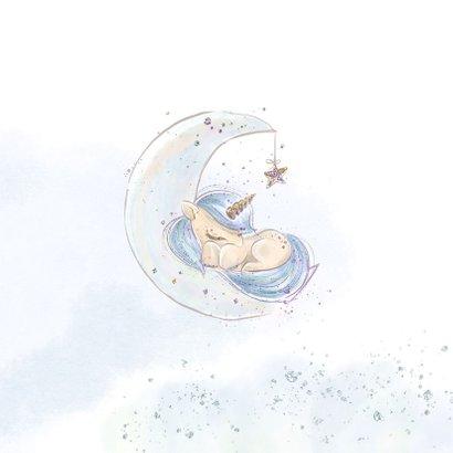 Geboortekaart jongen eenhoorn 2