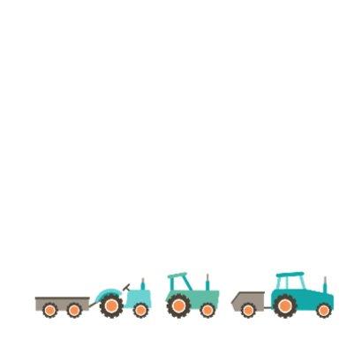 Geboortekaart jongen tractor 2