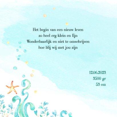 Geboortekaart jongen - waterschildpad 2