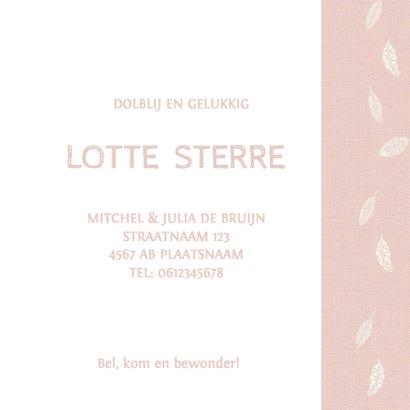 Geboortekaart Ledikant roze - AV 3