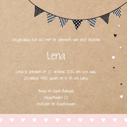 Geboortekaart silhouette commode 3