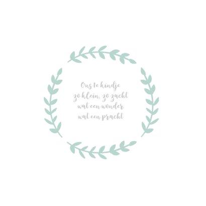 Geboortekaart vierkant rozet aquarel groen - BC 2