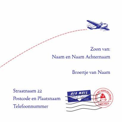 Geboortekaartje Airmail 3