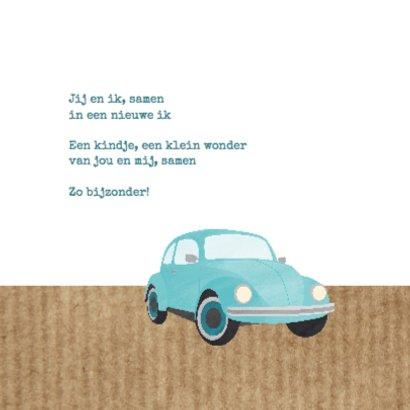 Geboortekaartje blauw autootje 2