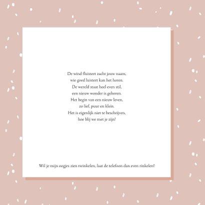 Geboortekaartje confetti konijn 2
