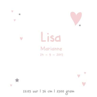 Geboortekaartje eenvoudig Lisa 3