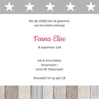 Geboortekaartje Fenna label ster 3