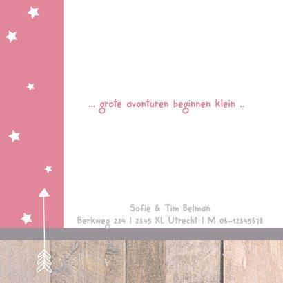 Geboortekaartje hangtag Femke 2