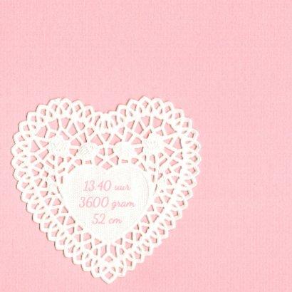 Geboortekaartje hart kant 2