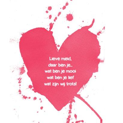 Geboortekaartje hip aquarel hart 2