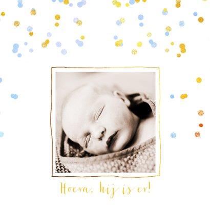Geboortekaartje hip goud wolkje 2