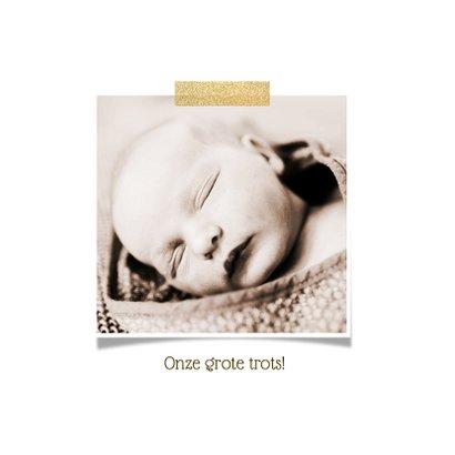 Geboortekaartje hip ronde foto girl 2