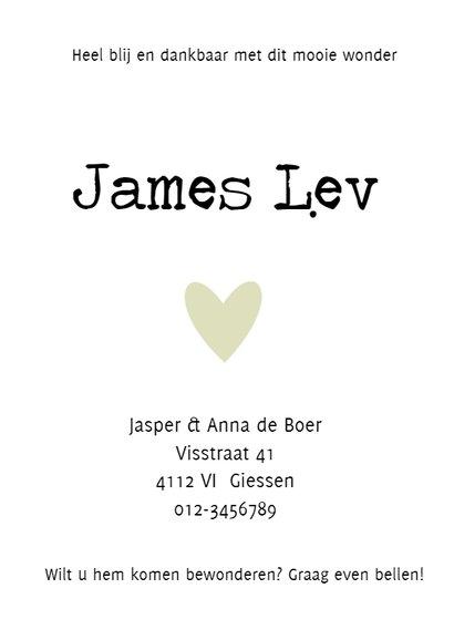 Geboortekaartje James - HM 2
