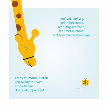 Geboortekaartje jongen met giraf 2
