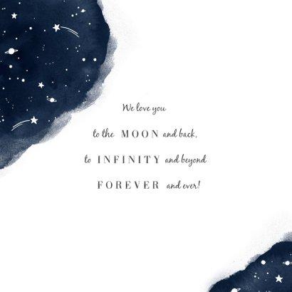 Geboortekaartje jongen of meisje universum sterren 2