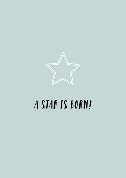 Geboortekaartje jongen ster eenvoudig strak 2