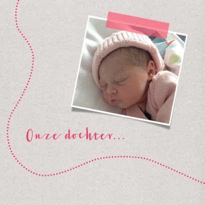 Geboortekaartje lief meisje foto 2