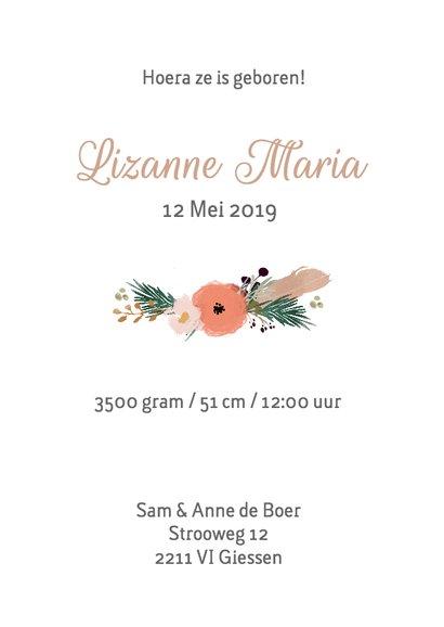 Geboortekaartje Lize - HM 3