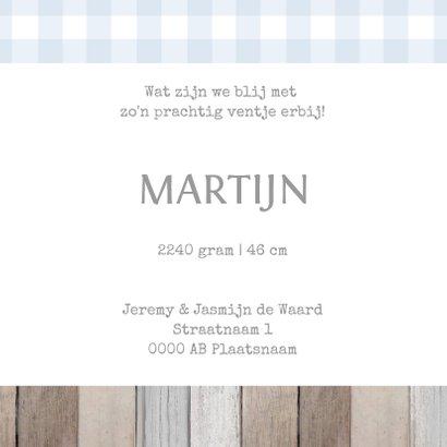 Geboortekaartje Martijn label 3